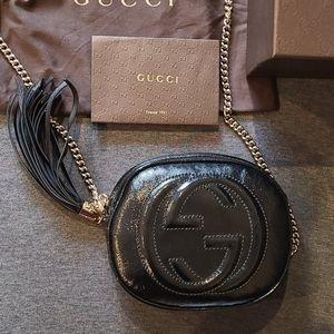 Gucci Black Soho Patent Leather Mini Chain Bag Bag